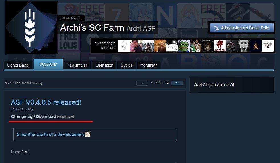 ASF Resmi Steam Sayfası