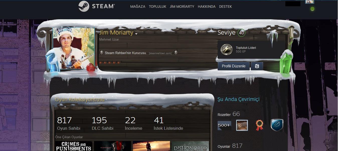 Steam Arka Plan Ekleme