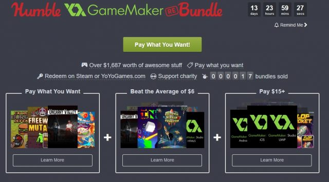 Humble GameMaker Bundle
