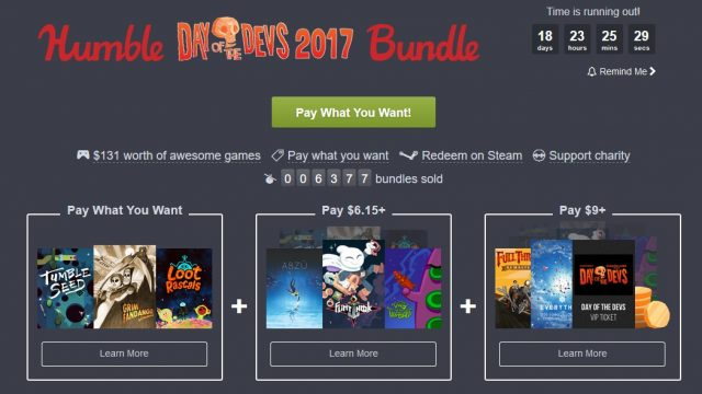 Humble Day of the Devs 2017 Bundle